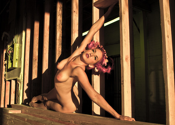 Nude fine art by Aaron Paul Rogers.  Danni Doll urban exploration photoshoot.