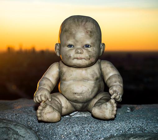 Sad Baby Scary Doll
