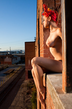 Nude urban exploration art by Aaron Paul Rogers