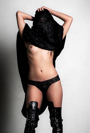 Burqa nude fine art