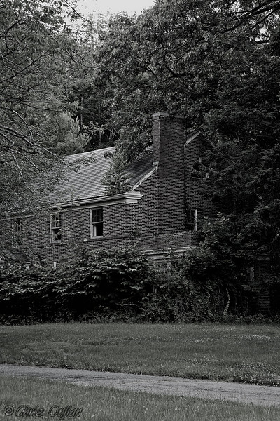 One of the boarded up doctor residences