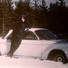 """our '64 corvair spyder, """"abandoned""""  to the winter snows march 1984"""