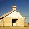 abandoned church, near Hayes, KS, mar 1995