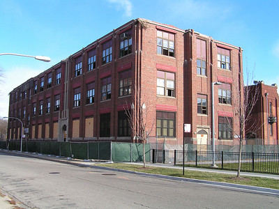 Old St Rita HS, Clermont Ave, Chicago,tearing down the old school. nov 24, 2005