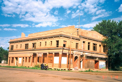 Marmath, ND, deserted downtown, july 19, 2001