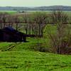 abandoned barn near Shawneetown, IL, may 1974