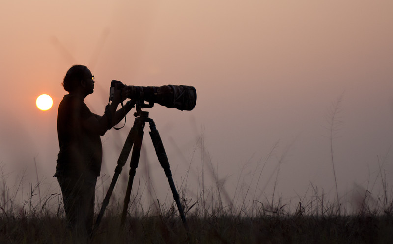 Me shooting Hyena's at Velvadar National Park, Velavadar, India.