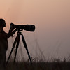 Me shooting Hyena's at Velvadar National Park, Velavadar, India.