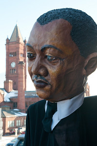 Martin Luther King puppet by Mary Plaster