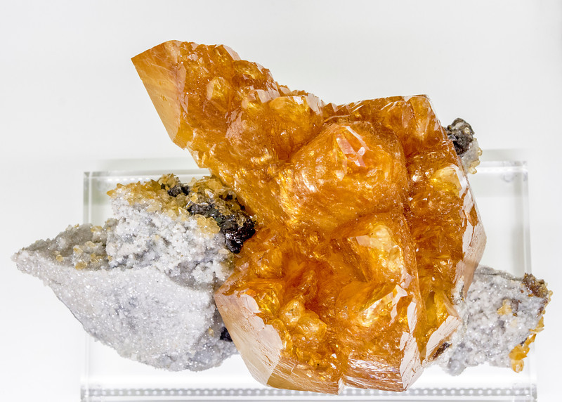 Mineral sample of Calcite Sphalerite