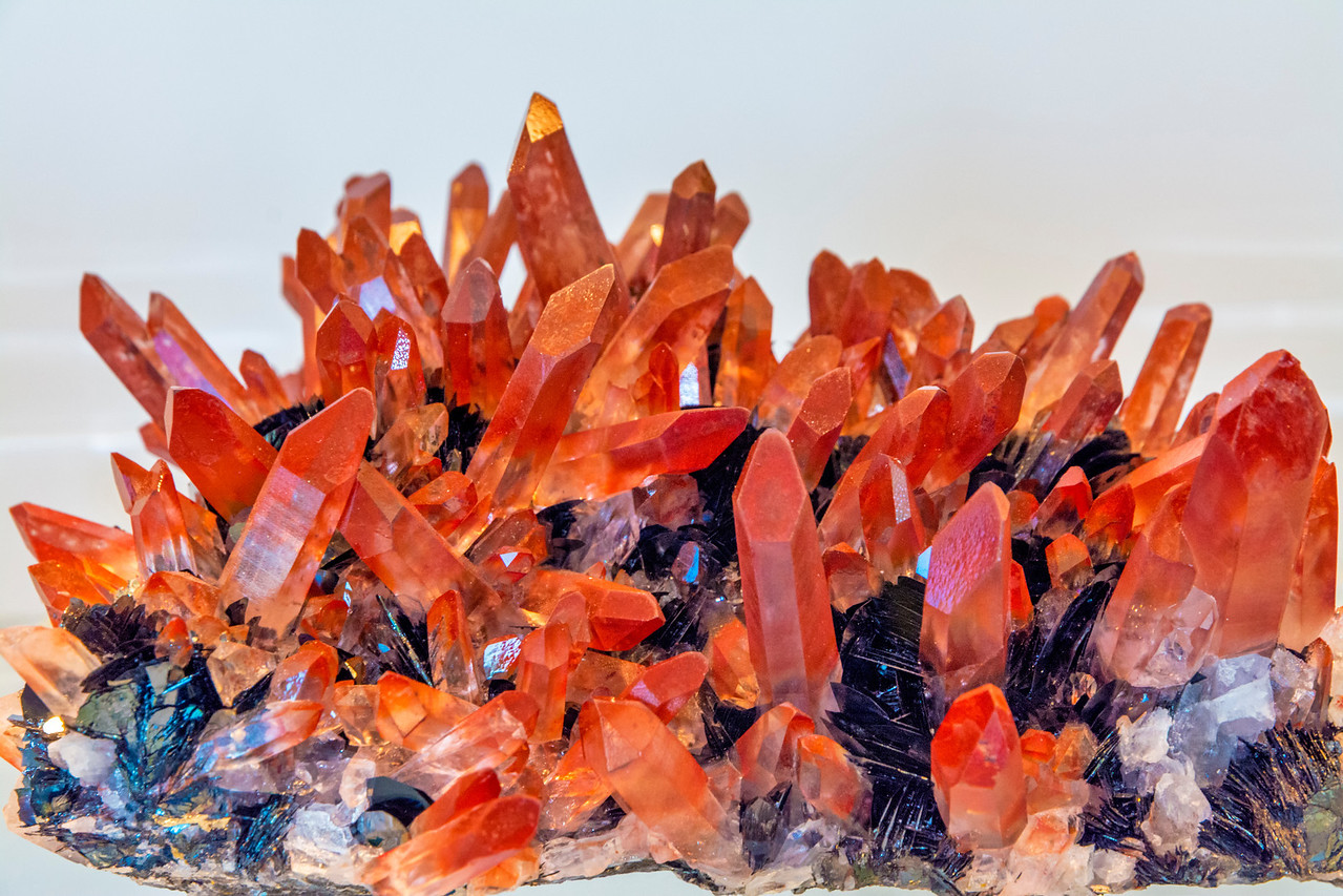 Mineral of Quarts with Hematite Crystals