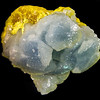 Celestine with Sulfur museum sample
