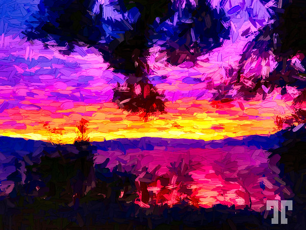 flathead-lake-sunset-red-paint-abstract-AU