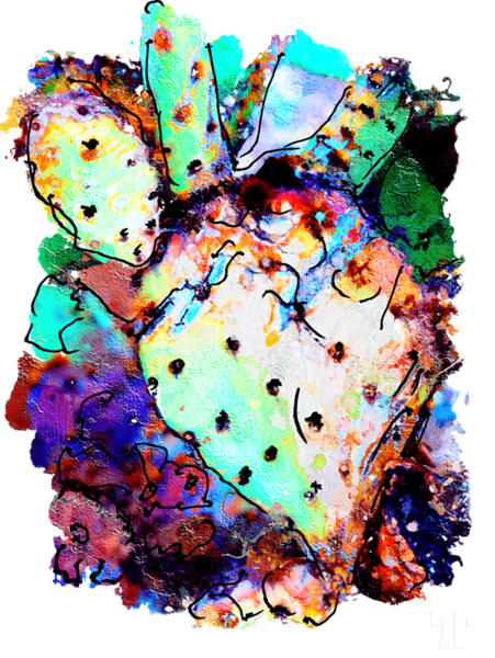 prickly-pear-cactus-abstract-transp-art-height-9000px-gigapixel
