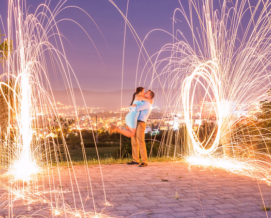 Love on Fire on the top of the city