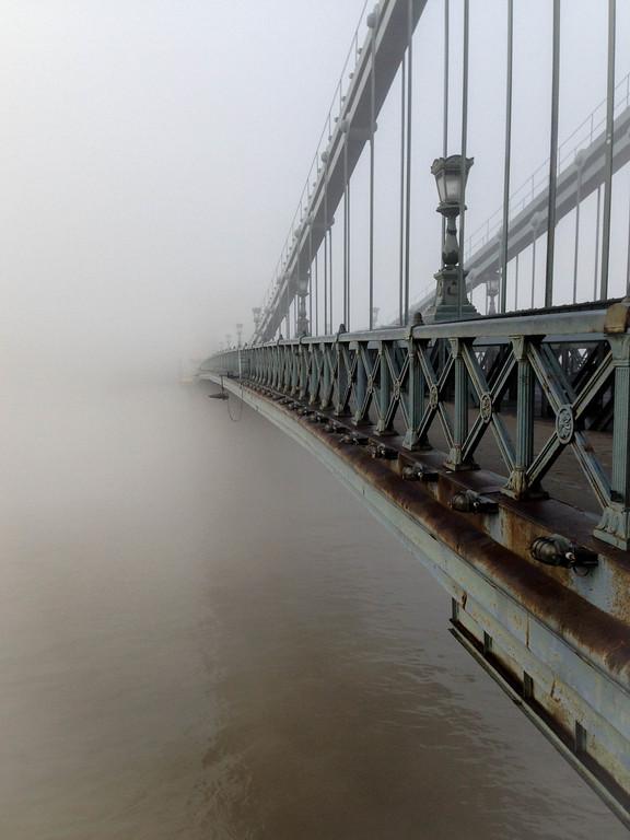 Into the Mist - Szechenyi Chain Bridge, Budapest