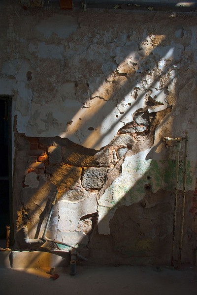 Institutional Decay - morning light through a broken window, Eastern State Penitentiary, Philadelphia PA