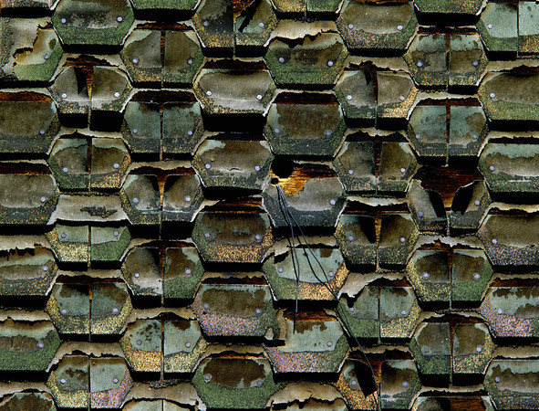 Bodie Ghost Town - Tiles from a the front of one of the buildings