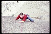 """Laura at Smith Rocks - """"Death by Abrasion"""" if one fell."""