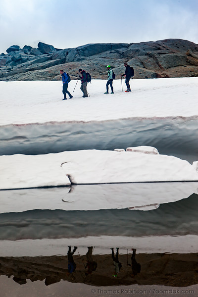 Snow Bank Hikers
