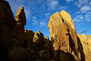 The shadow of a sun dancer catches the rocks on Asterisk Pass in Smith Rock State Park, Oregon.