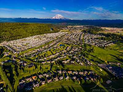 Orting Valley and Mount Rainier