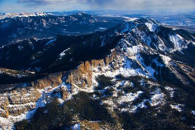 Aerial of Colorado Mountains