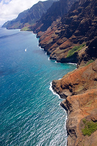 First view of the Na Pali cliffs