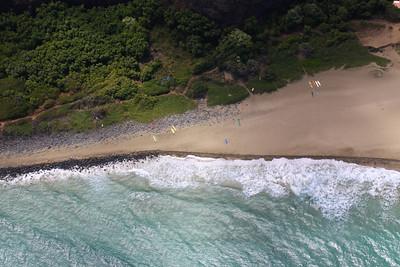 Kayaks at Kalalau Beach