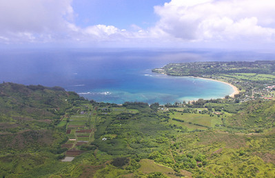 Aerial view of Princeville