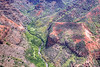 Aerial view of Waimea canyon. HDR treatment of single RAW capture.