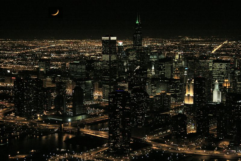 Chicago skyline - December 2004
