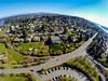 Aerial from western Mercer Lid, Mercer Island, WA