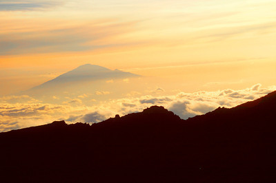 Mount Meru sunset from Barafu Hut