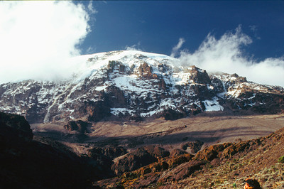 Mount kilimanjaro from Karanga Valley