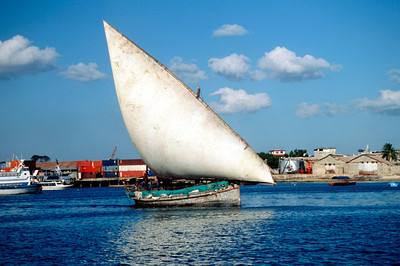 Native Dhow in Zanzibar Harbor
