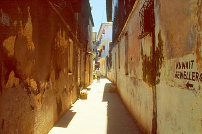 Narrow Stone Town Street