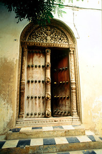 Anglican Church Entrance Door Zanzibar