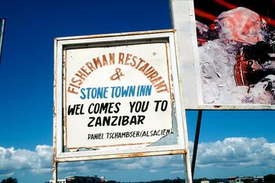 Zanzibar Welcome sign