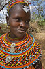 #AF 119 Samburu Girl with Traditional Beaded Neckless, Kenya