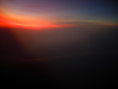 Airborne sunset abstracts