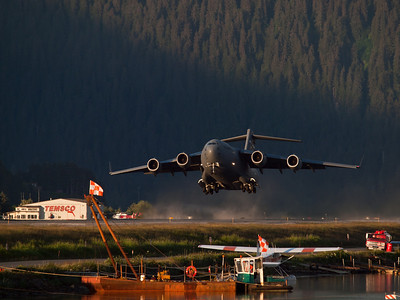 Like a skipping stone, some landing practice in (thankfully) very good evening light. June 8.