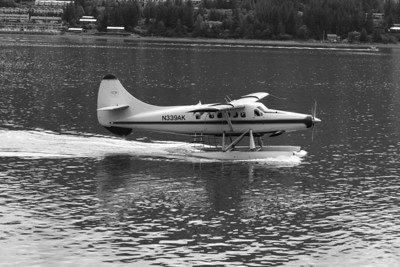 Float planes arrive on regular shifts for sight-seeing.