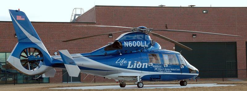 Life Lion at Carlisle Regional Medical Center Helipad, February 2009