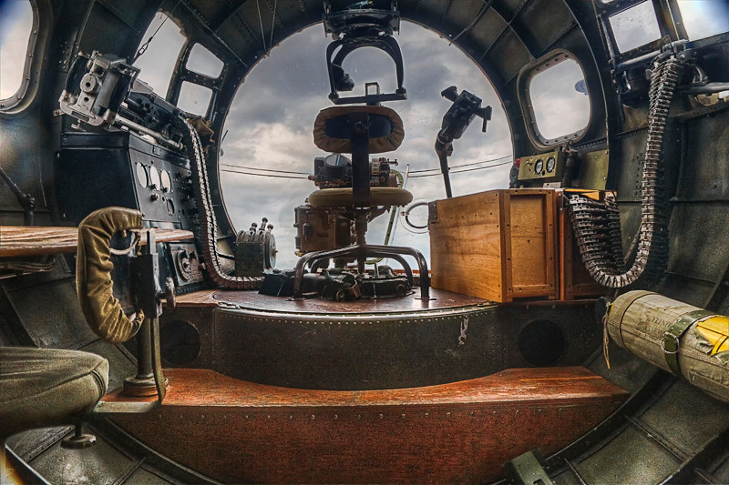 B-17 Bombardier's Position
