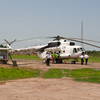 MI-8 Being refueled at Bor airstrip in Jonglei State South Sudan.