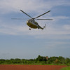 MI-8 Landing in Bor, Jonglei state South Sudan