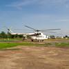 MI-8 Just landed in Bor, Jonglei State, South Sudan