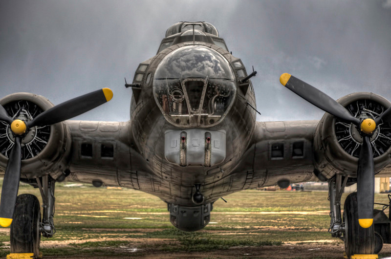 B-17 Flying Fortress Nose-On