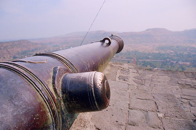 """Durga Cannon"" - in its day it fired cannon balls to a distance of over 13KM, Daulatabad"